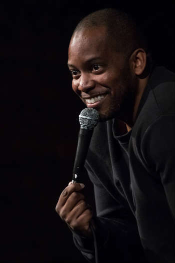 Black male comedian