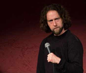 White male comedian
